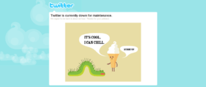 Twitter site maintenance page