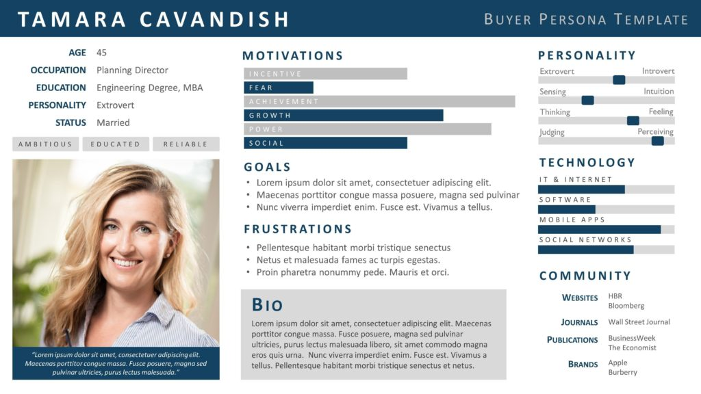 An example of a buyer persona.