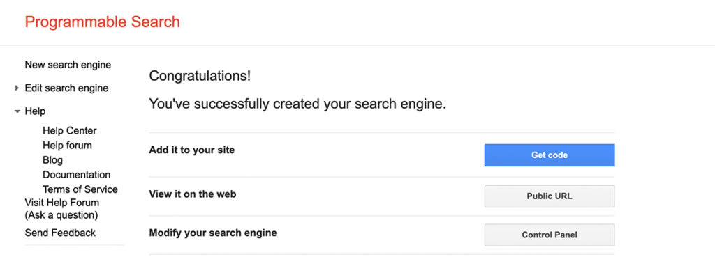 Google's Programmable Search tool